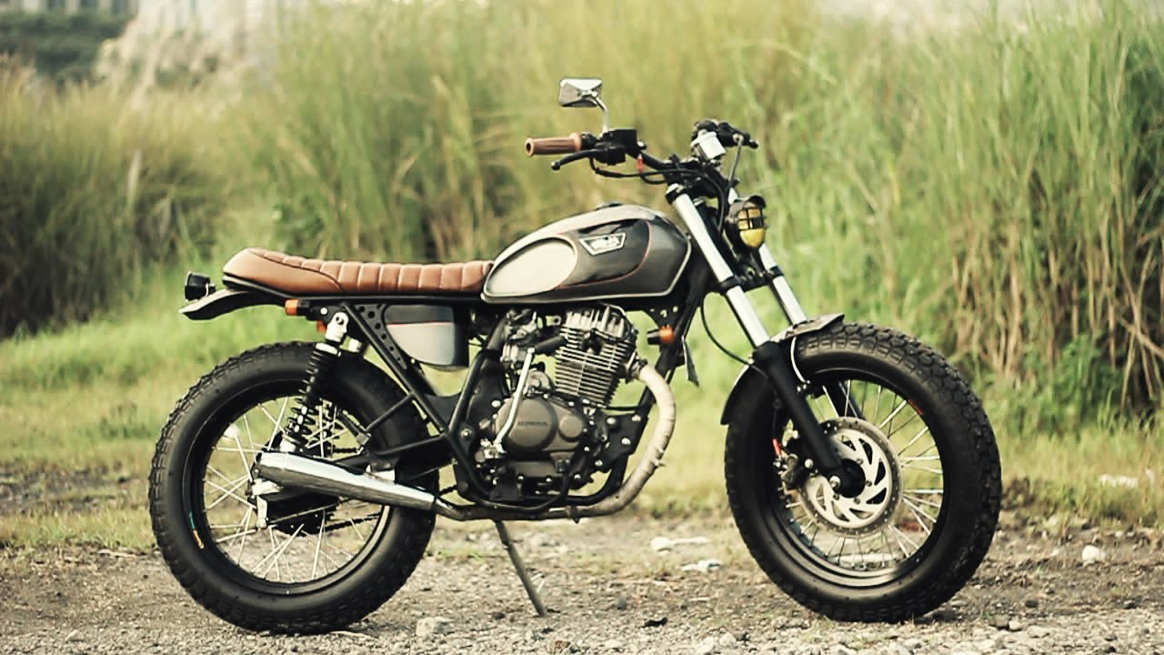 Street Tracker Custom Bike Konsep