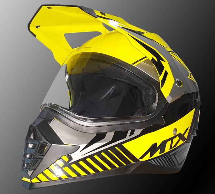 Helm supermoto MTX yamaha kuning keren