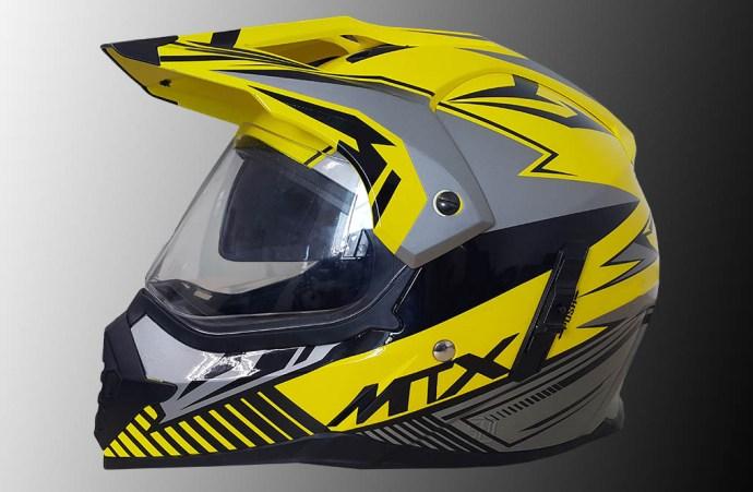 Helm supermoto MTX yamaha kuning