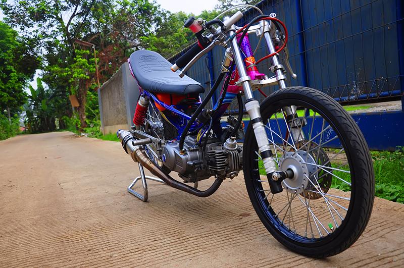 Modifikasi Motor Drag Yamaha New Vega R Keren