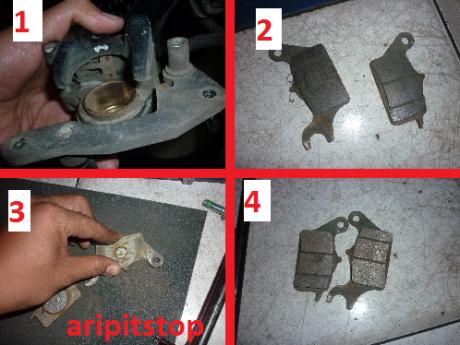 Cara Mengganti Kampas rem motor