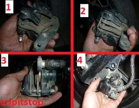 Pemasangan Kampas Rem Motor