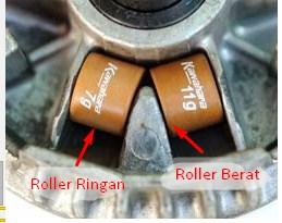 Posisi Roller Motor Matic