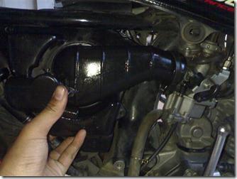 cara bersihkan filter udara cepat