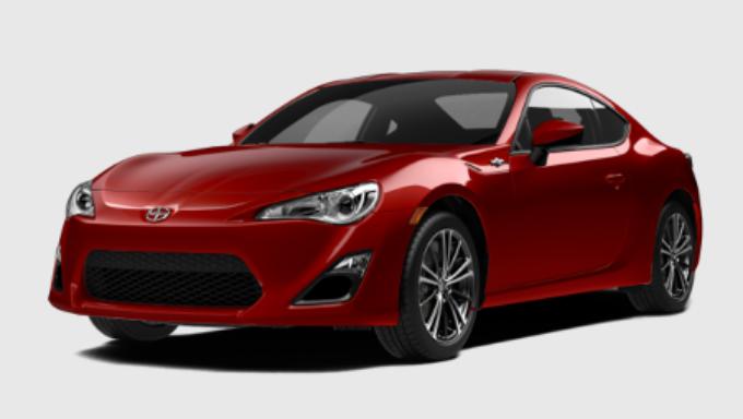 Gambar Mobil Scion FR-S 2015 Warna Merah.