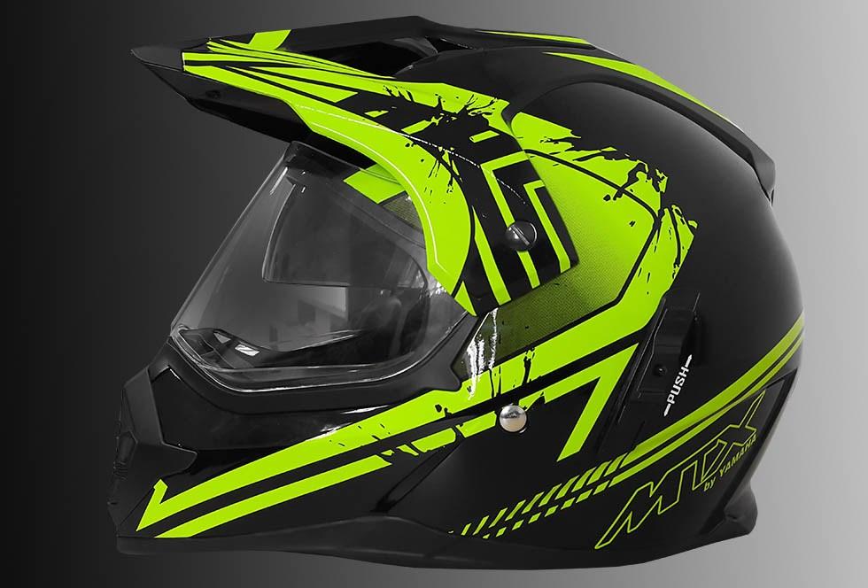 Helm supermoto MTX yamaha hijau terbaru