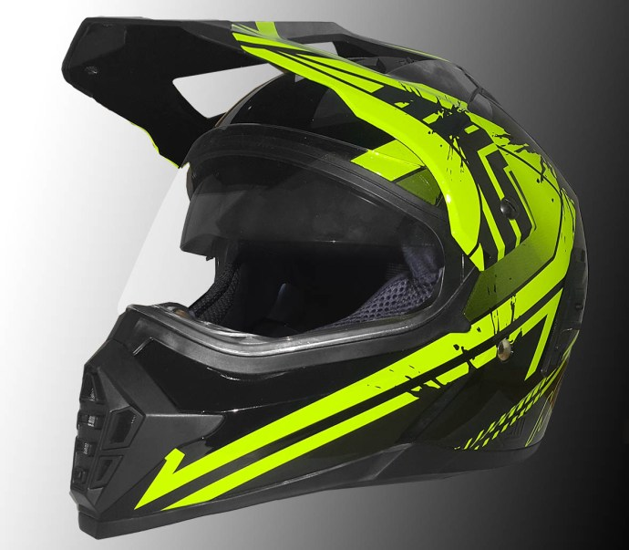 Helm supermoto MTX yamaha hijau