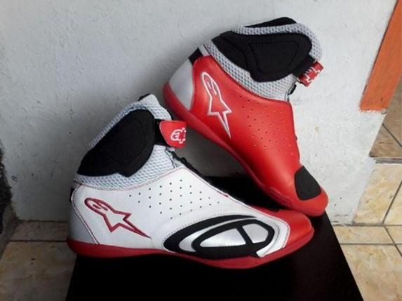Sepatu Motor Drag Alpinestars Merah Putih Hitam