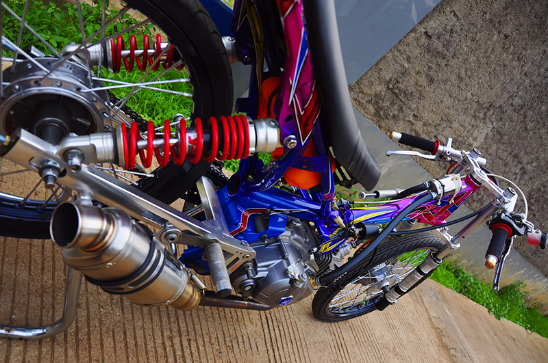 Modifikasi Motor Drag Yamaha New Vega R Ternbaru