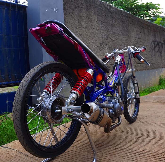 Modifikasi Motor Drag Yamaha New Vega R tercepat