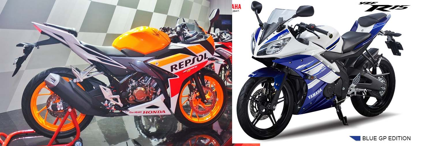 R15 VS New CBR 150 R 2016